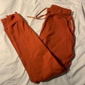 ALPHALETE Premium Joggers Size Small Orange